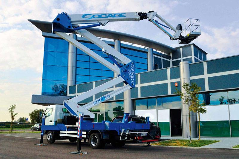Control de flota de maquinaria industrial por GPS - máquina elevadora