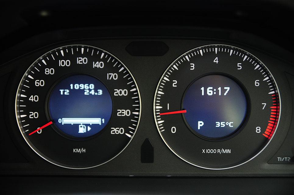 Instrumental coche - velocidad y revoluciones