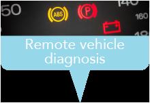 Marker remote vehicle diagnosis