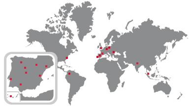 Mapa de sedes de GMV