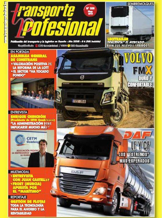 Portada revista transporte Profesional