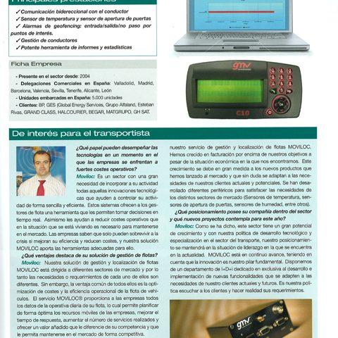 Artículo de gestión y localización de flotas en revista Logística y Transporte