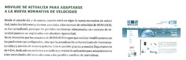 Noticia de MOVILOC en revista Transporte 3 en abril de 2011