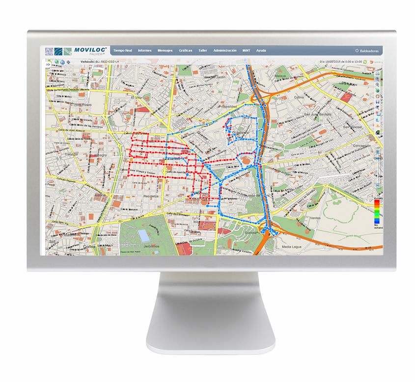 Gestión de limpieza viaria por GPS. Representación cartográfica del trabajo realizado