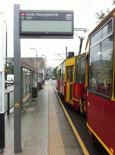 Localización ygestión del transporte público de viajeros - tranvía de Varsovia