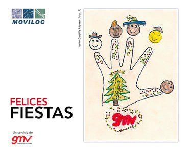 Postal de felicitación de navidad del año 2014