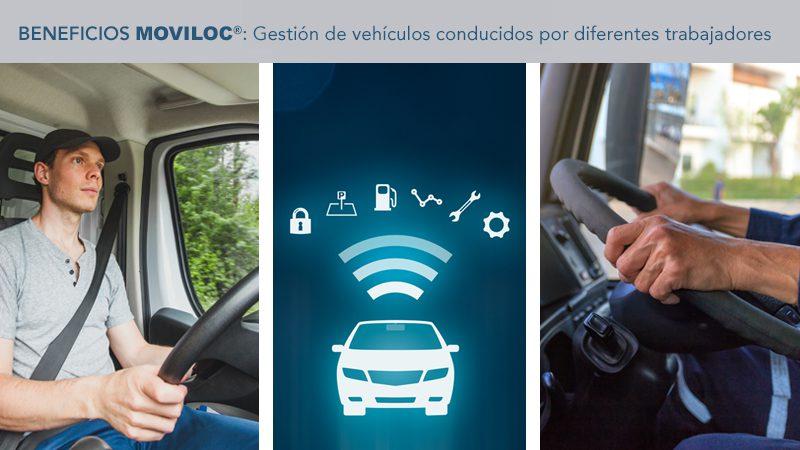 Sistema de localización y gestión de vehículos conducidos por diferentes chóferes